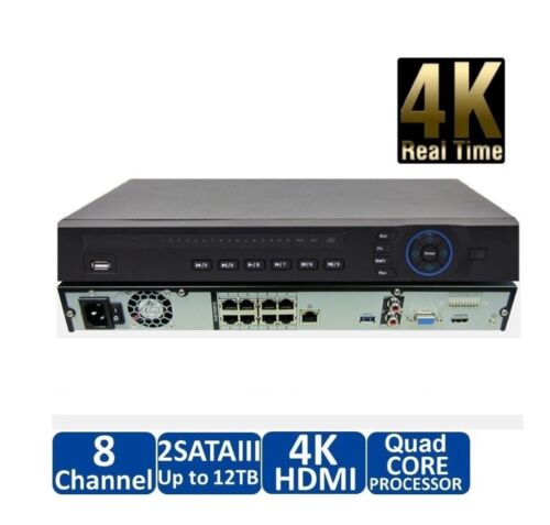 Support IP Camera Up to 8MP DAHUA 4K IP 8Ch NVR with Built-in 8Port PoE