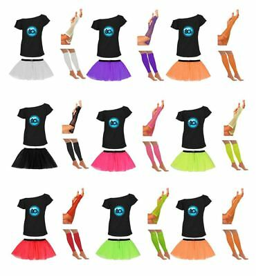 Obligatorisch I Love The 80s T Shirt Womens Tutu Skirt Gloves Legwarmer Set Hen Party Dress Hochwertige Materialien