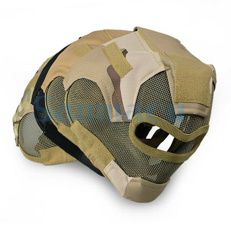 Multipe Full Face Steel Mesh Predection Mask Tactical Airsoft Paintball V7