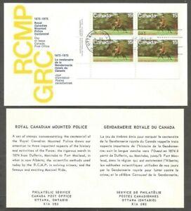 CANADA FDC.1973 R.C.M.P. CENTENARY STAMPS 15C CANADA SCOTT #614 MUSICAL RIDE