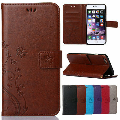Luxury Patterns Leather Wallet Card Stand Case Cover For iPhone 4S 5S 6 6S Plus