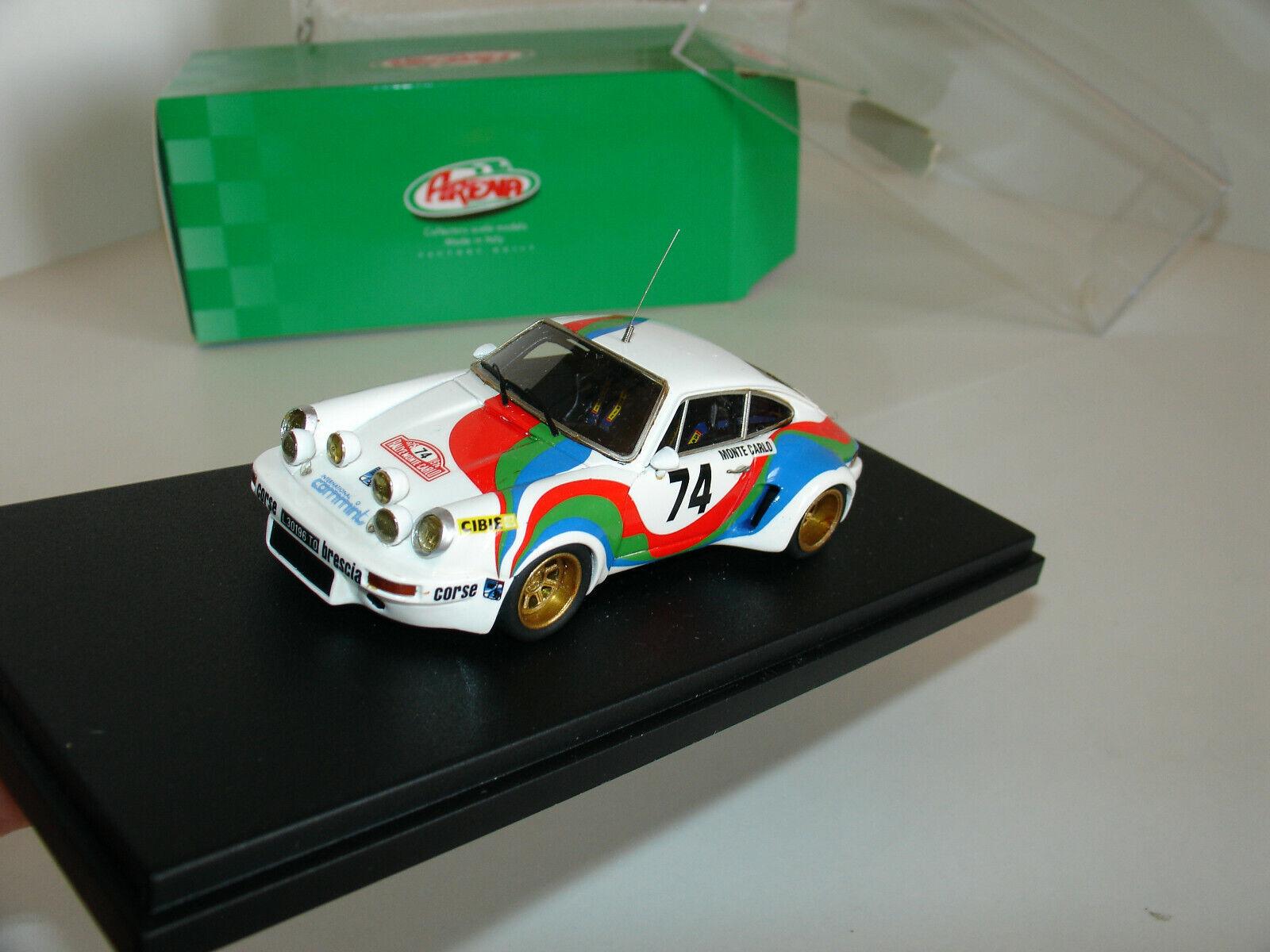 1 43 PORSCHE 911 CARRERA RSR GR.4  74 RALLY MONTE CARLO 1975 by ARENA ModellllS