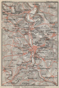 Bad Kissingen & Umgebung Europe Maps Antiques Nüdlingen Eltinghausen Euerdorf Bocklet 1910 Old Map To Have A Unique National Style