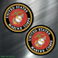 2-TWO-US-MARINES-Vinyl-Decal-Sticker-For-Car-Laptop-Skateboard-NEW-USA-Marine thumbnail 1