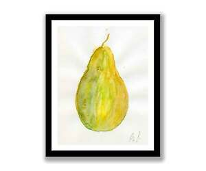 Pear-watercolour-abstract-painting-unique-gift-Print-ID-437