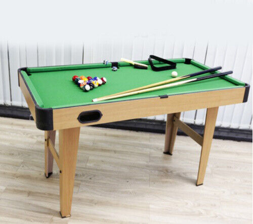D13 Green Wooden Kids Toy Home Billiard Ball Snooker Pool Table Game 74CM