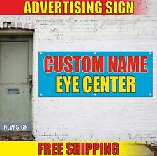 Eye Center Banner Advertising Vinyl Sign Flag Exams Doctor Clinic Vision Health