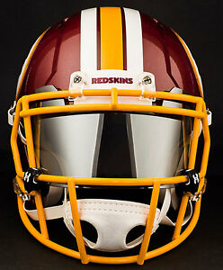 Image is loading WASHINGTON-REDSKINS-NFL-Football-Helmet-with-CHROME-MIRROR- fba4f6e9c74