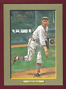 DIZZY DEAN, Cardinals ~ Perez-Steele Turkey Red-style cabinet card (1 of 5,000)