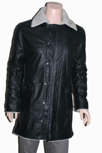 DARK Knight Rises Replica Black Minifig Giacca Vera Pelle Mucca TRENCH