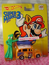 2016 30th SUPER MARIO☆BROS 3☆SCHOOL BUSTED☆orange;Real Riders☆Hot Wheels Pop