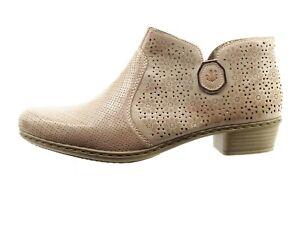 Details zu Rieker Stiefeletten Stiefel Boots Damen Schuhe 99481 25 Gr.36 42 braun Neu27
