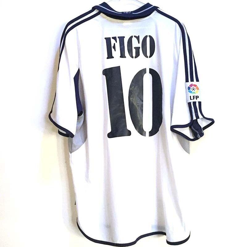 Shirt camiseta maglia camisa trikot REAL MADRID 200001 N°10 FIGO vintage vtg