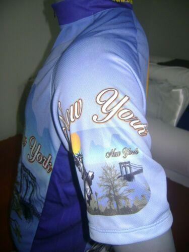 NEW YORK BIKE JERSEY CARTOON BIKE SHIRT SIZE XXL COOL UPSTATE NY MANHATTAN BROOK