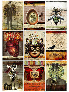 9 Steampunk Life Vintage Gothic Hang Tags Scrapbooking Paper Crafts