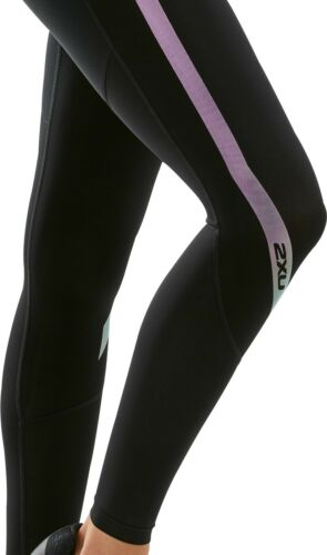 2XU Hi Rise Womens Long Training Tights Black Graduated Compression Exercise Gym