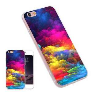 Details about Colorful Cloud Painting Fashion TPU Phone Case Cover for  iPhone Samsung Huawei