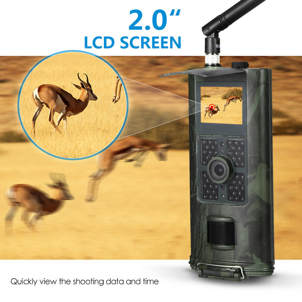 Hunting Camera 16MP 1080P Night Vision Trail  Cam Trap 2G GPRS MMS SMS New P8N4  fast shipping and best service