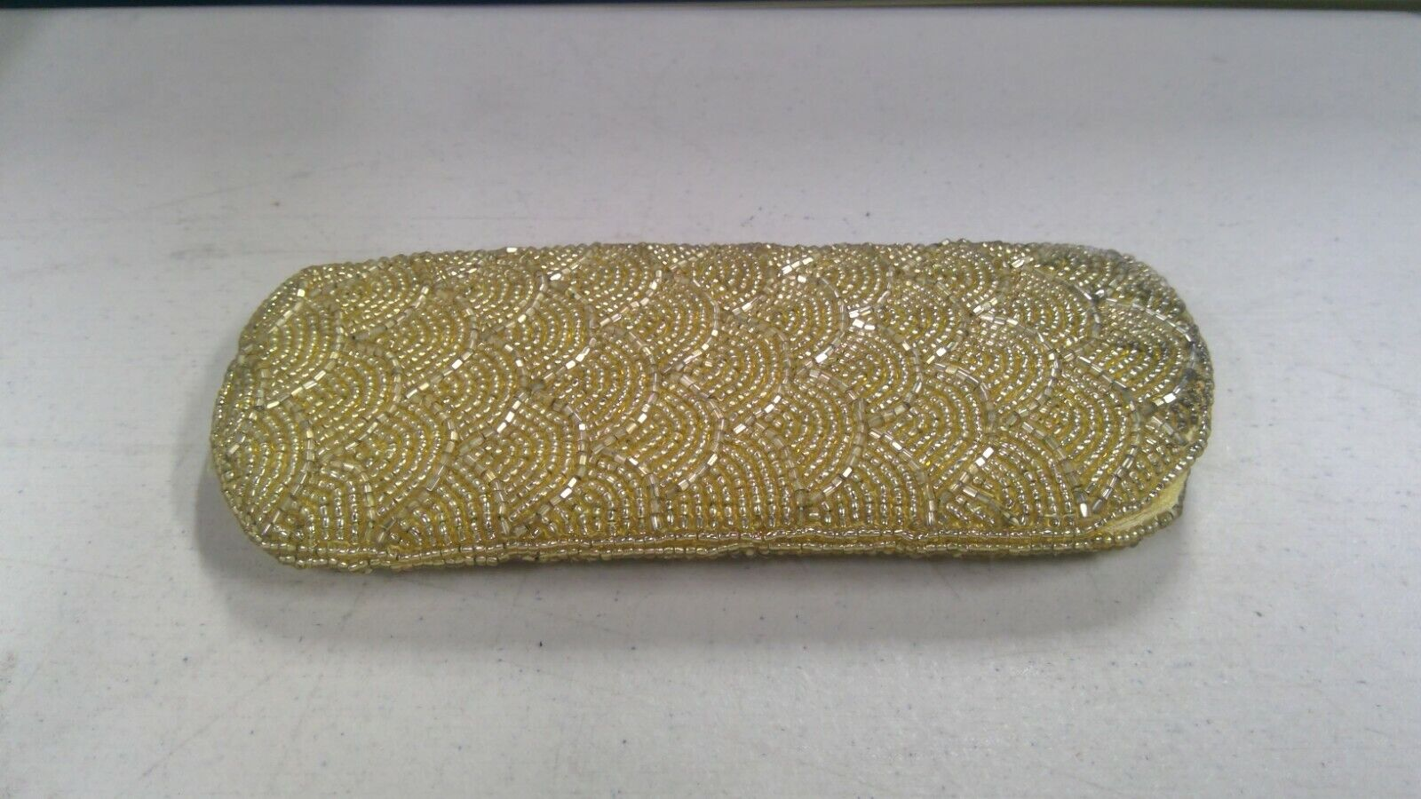 Authentic - Unbranded / Gold Sequin Style Sunglasses / Glasses Case