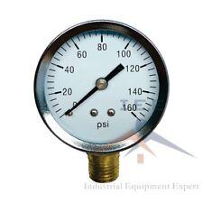 Quality 14 Npt Air Pressure Gauge 0 160 Psi Side Bottom Mnt Mount 2 Face