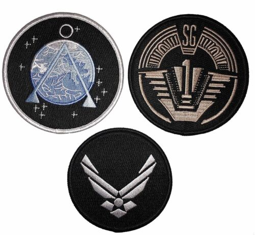 Stargate SG-1 Embroidered Set Of 3 Costume Embroidered Iron On//Sewn On Patches