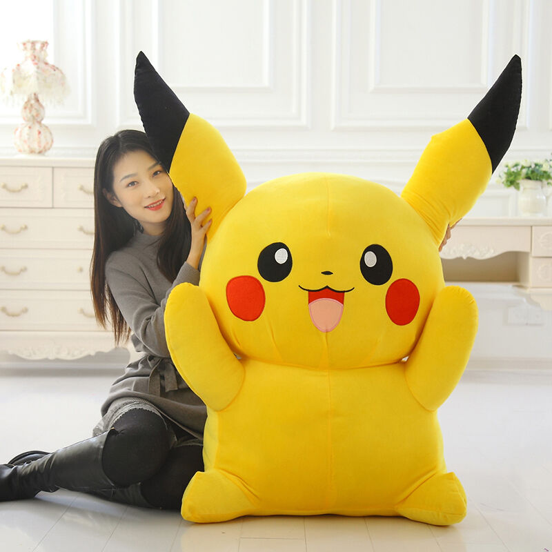80CM 32in Big Digimon Pikachu Pokemon Plushies Giant Large Stuffed Toy