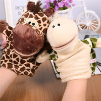 Child Kids Cute Plush Velour Animals Hand Puppets Chic Designs Learning Aid Toys