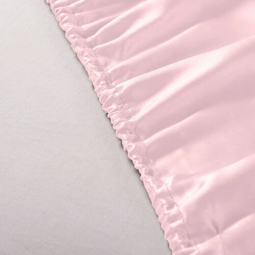 100/% Pure Silk Cot Bed Sheet 140 x 70 Pink Baby Crib Fitted Sheets Allergy Free