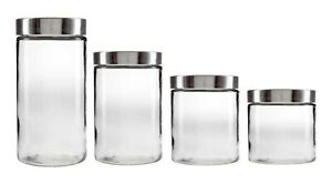 Glass-Jars-with-Stainless-Steel-Screw-Lid-Set-Pasta-Jar-Spaghetti-Jar-Silver-Jar