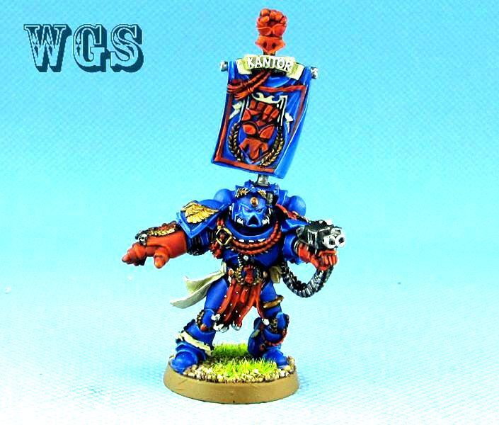 25mm Warhammer 40K WGS painted Pedro Kantor,Master of the Crimson Fists SM018