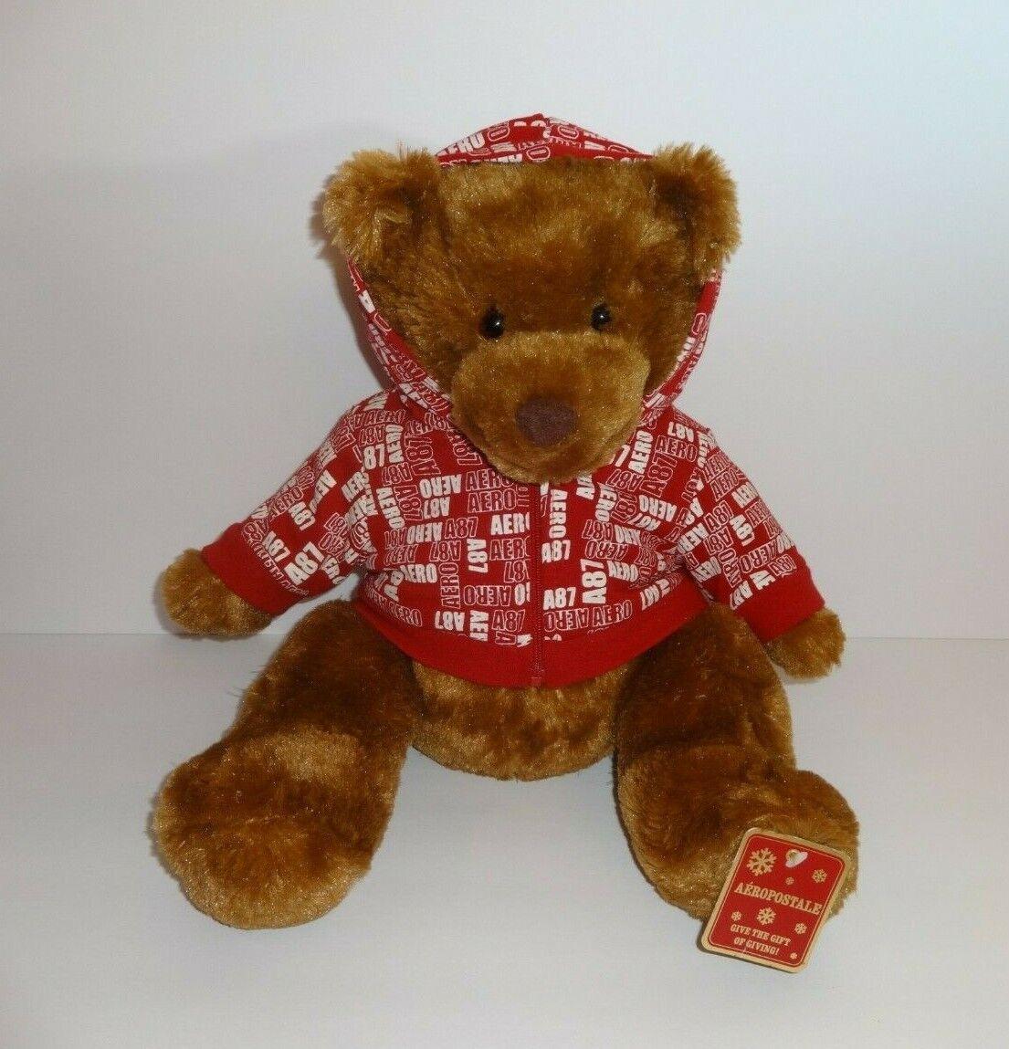 """Aeropostale Brown Plush Stuffed Animal Bear 16/"""""""