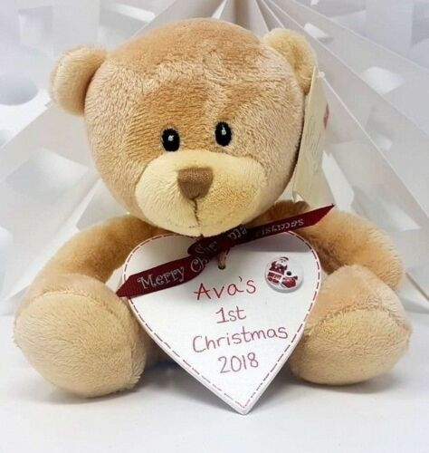 Personalised Valentines Gift Teddy Heart FOR HER HIM 16th Christmas Gift Xmas