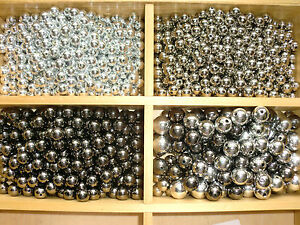 100pcs-Beads-Shining-Metallic-Silver-Tone-Round-In-Choice-Of-4-6-8-10-12-14-18mm