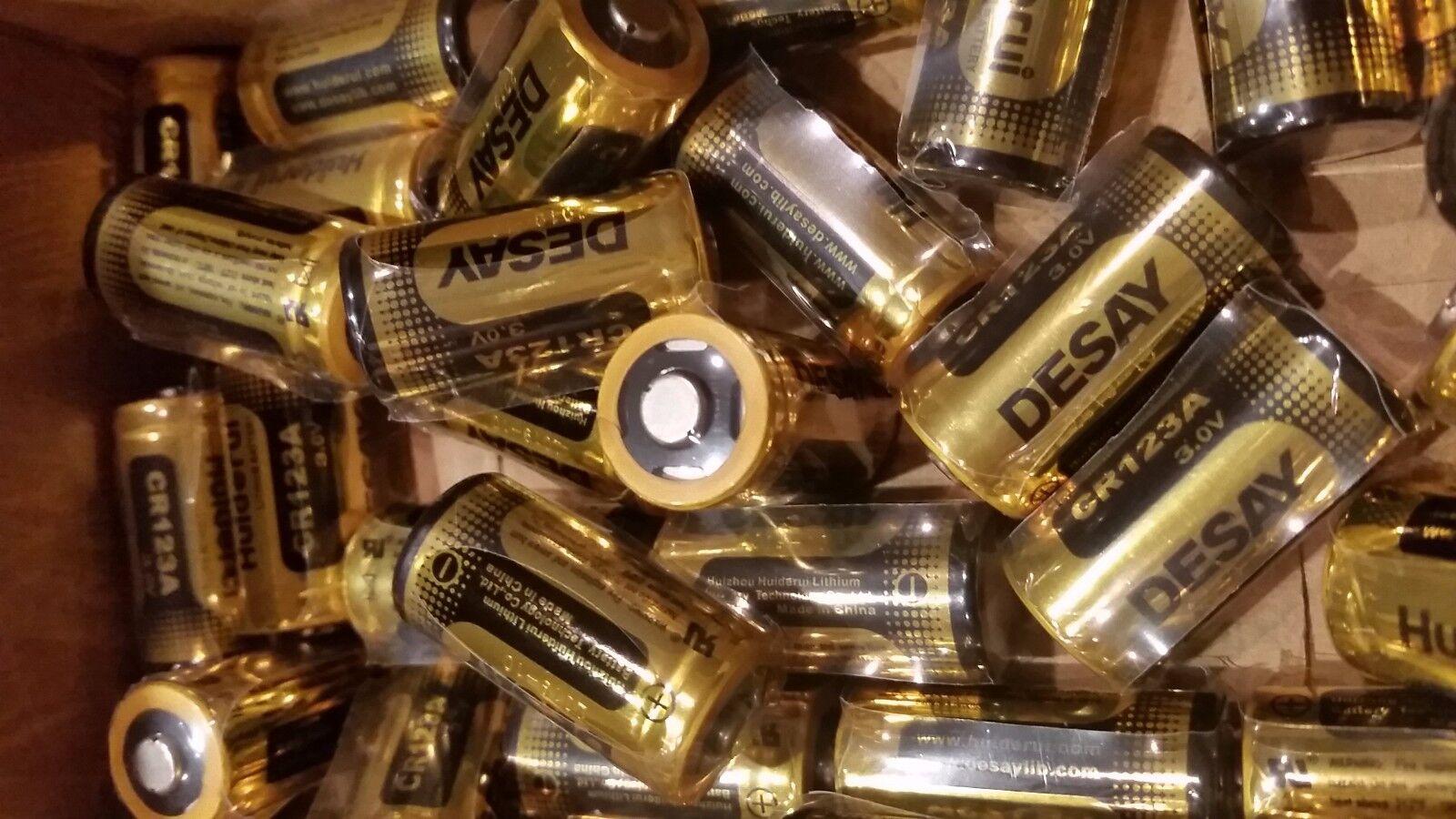 6pk Desay CR123A 123A CR17345 DL123 Lithium Piles