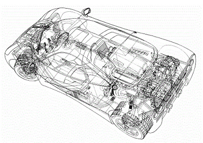 A3 Tyrrell 005 Cutaway Drawing Wall Poster Art Picture Print