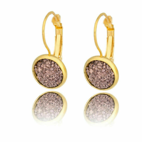 Fashion Stud Earrings Bling Filled Glitter Crystal Gypsophila Dangle Eardrop UK