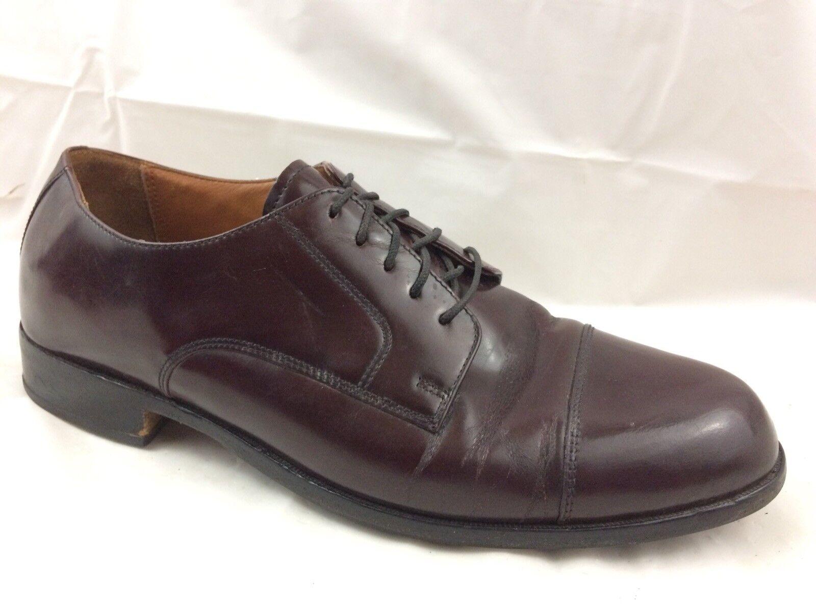 Bostonian Classics 20398 First Flex Men 9.5 M Dress shoes Burgundy Leather Vibram