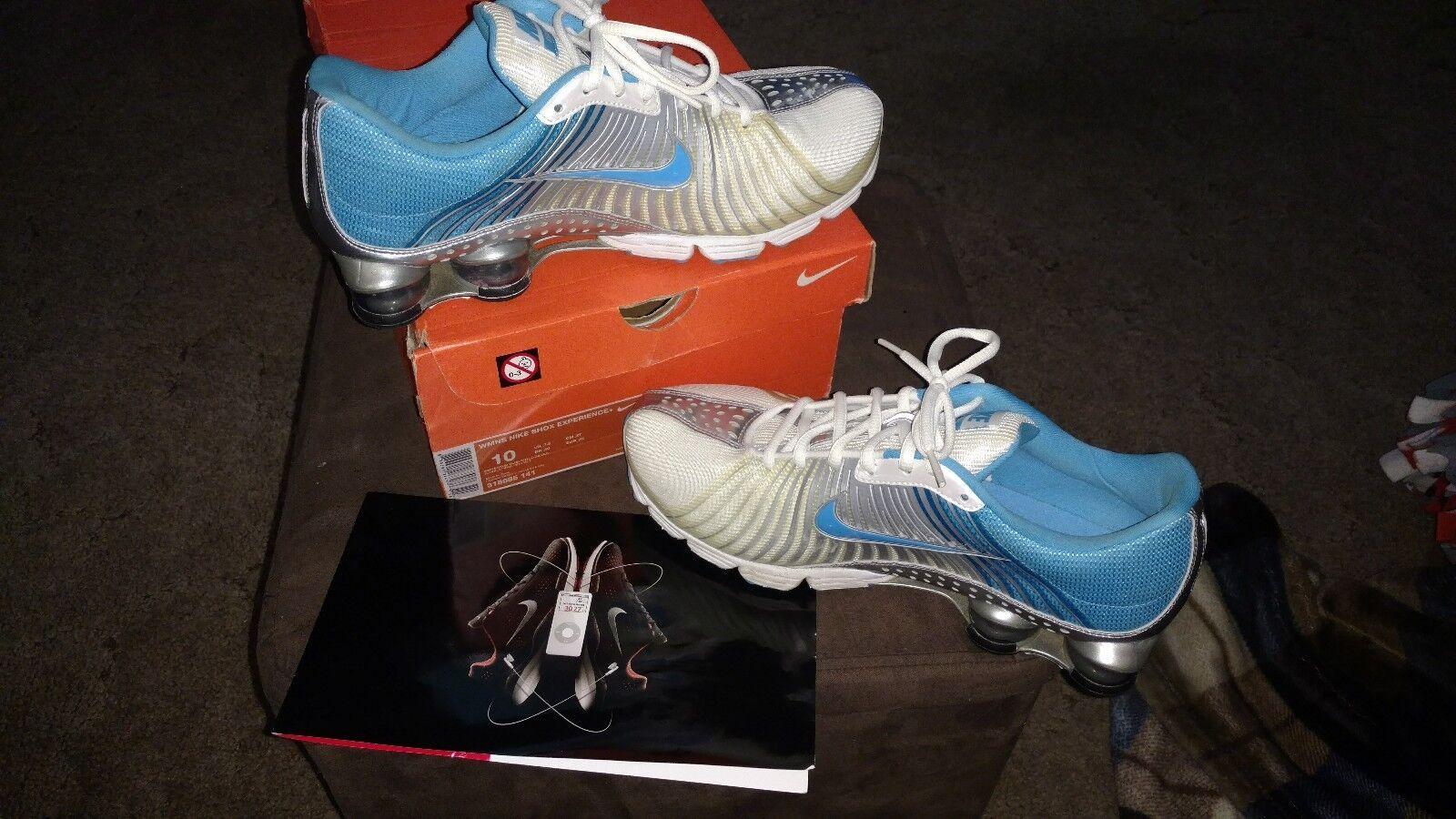 Women's Nike SHOX HTF vivid bluee silver white sz 10 RARE  WORN 1X W BOX