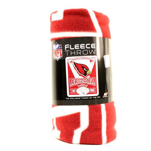 Arizona Cardinals Fleece Throw Blanket, Marquee Design