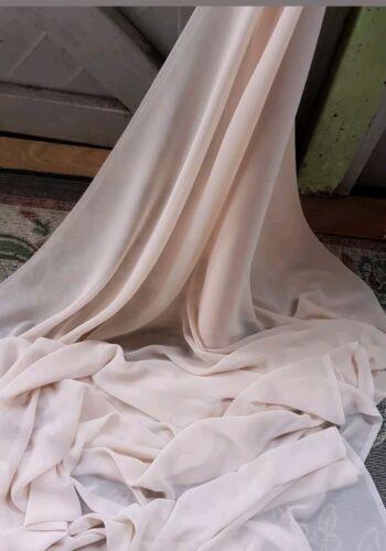 """5m nude chiffon soft dress chiffon  45/"""" WIDE"""