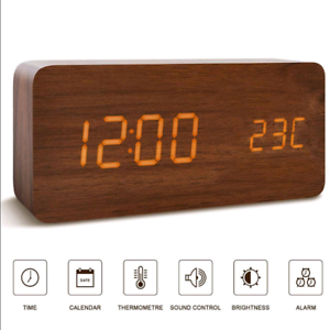 Modern-Wood-USB-AAA-Digital-LED-Voice-Control-Alarm-Clock-Calendar-Thermometer