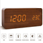 Modern-Wood-USB-AAA-Digital-LED-Voice-Control-Alarm-Clock-Calendar-Thermometer thumbnail 1