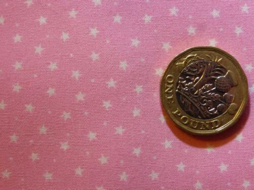 Cuarto gordo popelín de algodón con puntos diminutos Blanco Estrellas y en una gama de colores