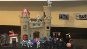 Vintage-90s-Fisher-Price-Knights-Kids-Toy-Castle-figures-Toys-Set-Bundle-Job-Lot