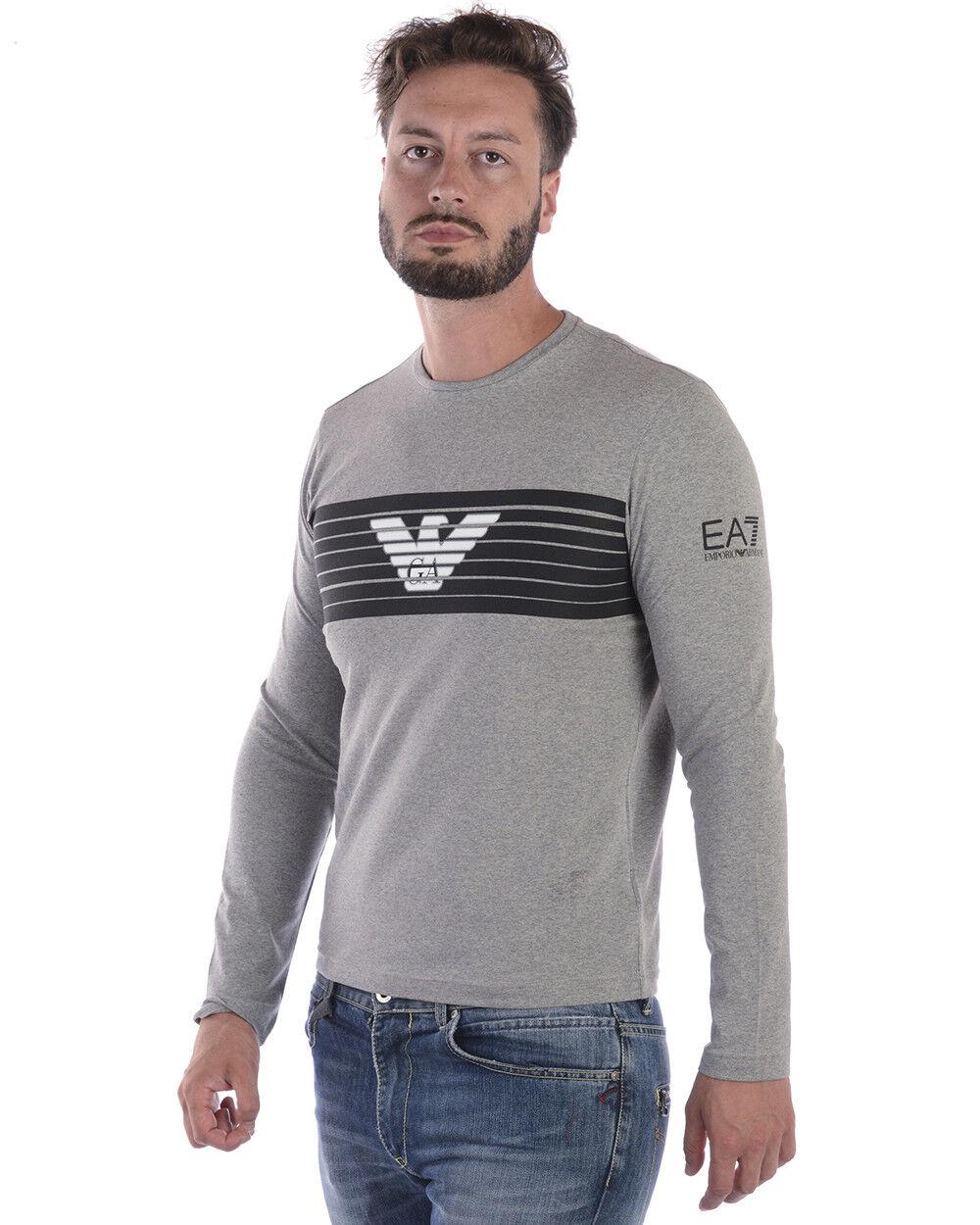 T shirt Maglietta Emporio Armani Ea7 6ZPT30PJ18Z Sweatshirt Uomo Grigio 6ZPT30PJ18Z Ea7 3905 e867c9
