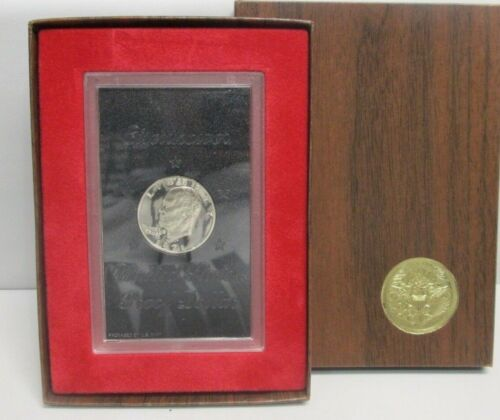 1971 S US Eisenhower Proof Silver Dollar Brown Box