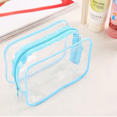 Hot Sale Clear Transparent Plastic PVC Travel Makeup Cosmetic Toiletry Zip Bag
