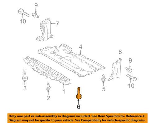 MAZDA OEM 06-10 5 Radiator Core Support-Under Cover Bolt 907200620