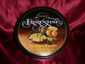 Vintage-MARCANTONIO-FLORENTINE-Fan-Wafer-Biscuits-TIN-Confectionery-Advertising