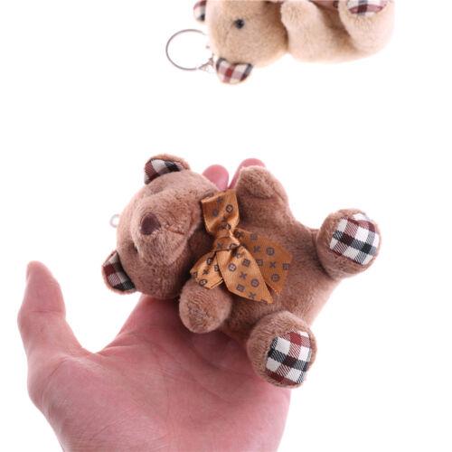New 10cm Plush Doll Bear Fashion Phone Bag Key Chain Pendant Wedding Shed M/&R